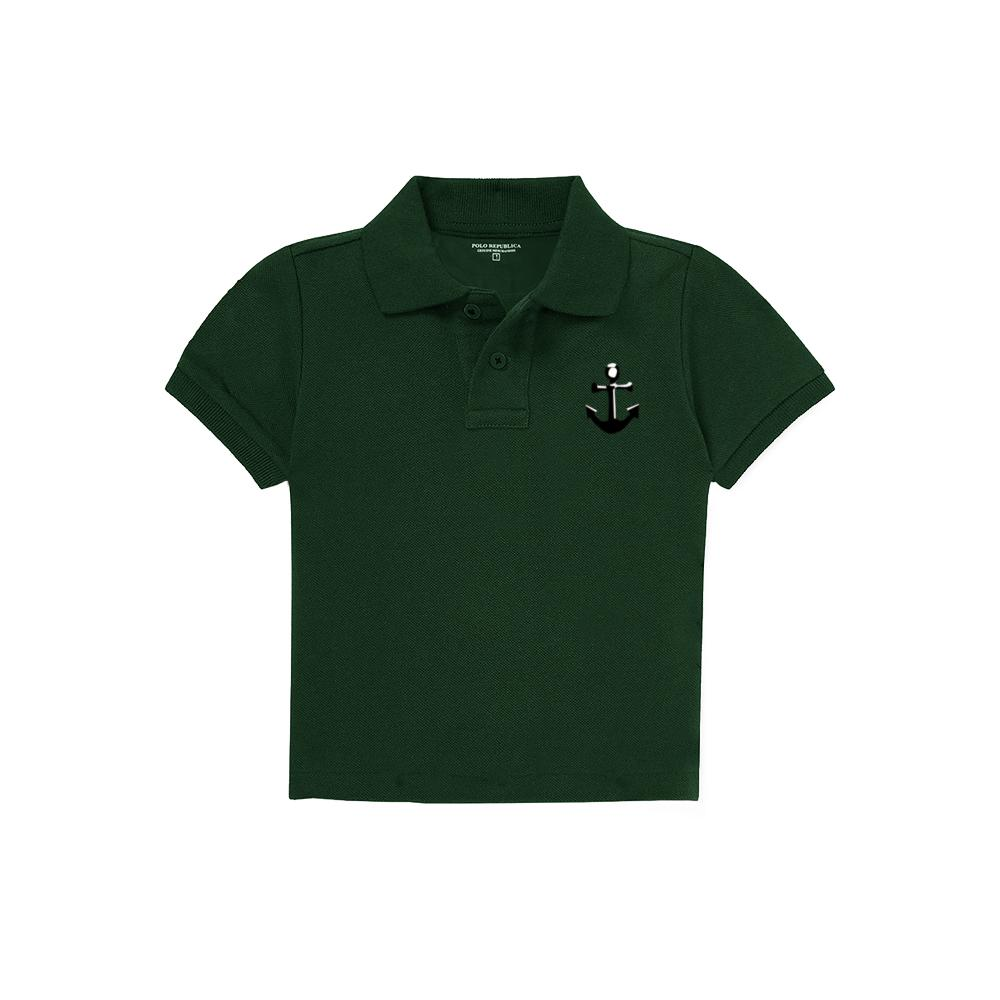 Polo Republica Infant/Baby Anchorhead Polo Shirt Boy's Polo Shirt Polo Republica Bottle Green & Black 12 Months