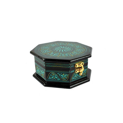 Grimstad Octagon Jewelry Box Jewellery SAK Green