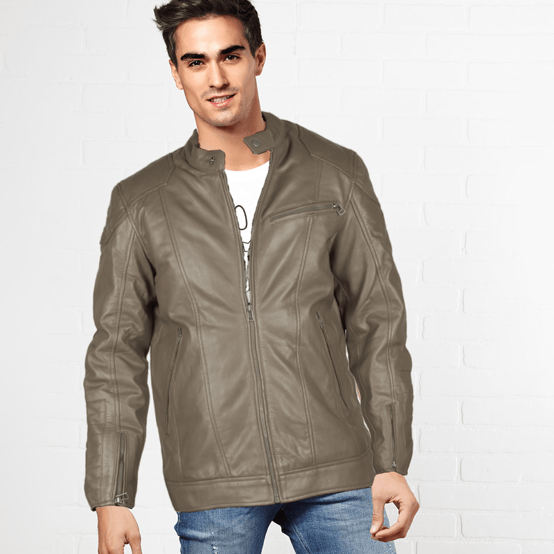 SFS Men's Ritzy Genuine Leather Jacket