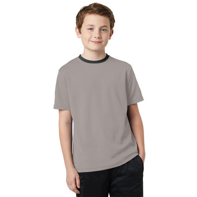 Polo Republica Kids Ringer Tee Shirt Boy's Tee Shirt Polo Republica Grey 2 Years