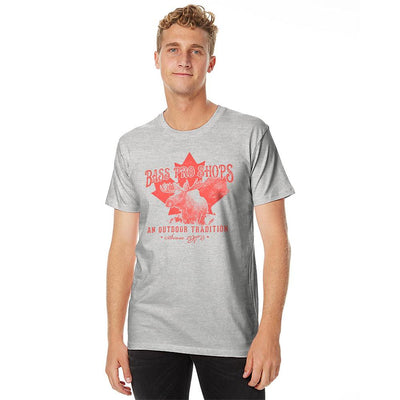 BPS Maple Leaf Outdoor Tradition Tee Shirt Men's Tee Shirt MAJ Heather Grey S