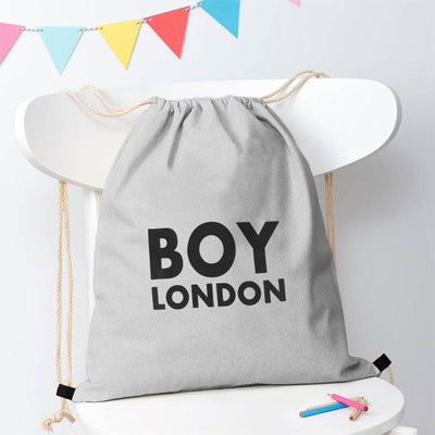 Polo Republica London Boy Drawstring Bag Drawstring Bag Polo Republica Heather Grey Black
