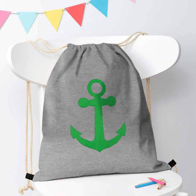 Polo Republica Ship Langar Drawstring Bag Drawstring Bag Polo Republica Heather Grey Green