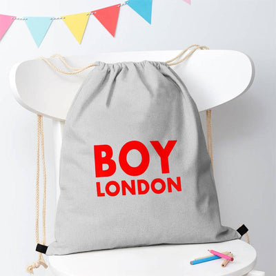 Polo Republica London Boy Drawstring Bag Drawstring Bag Polo Republica Heather Grey Red