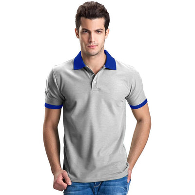 Polo Republica Abrud Polo Shirt Men's Polo Shirt Polo Republica Heather Grey Royal S