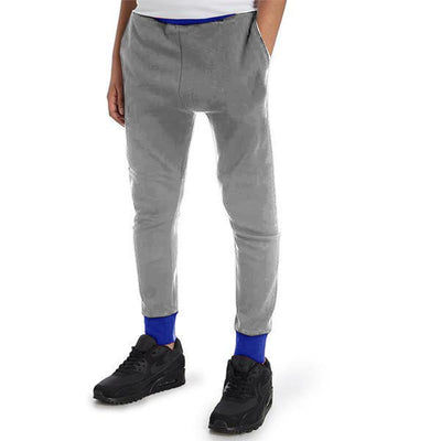 Polo Republica Kids Hoobsita Classic Sweat Pants Boy's Sweat Pants Polo Republica Heather Grey Royal 8 Years
