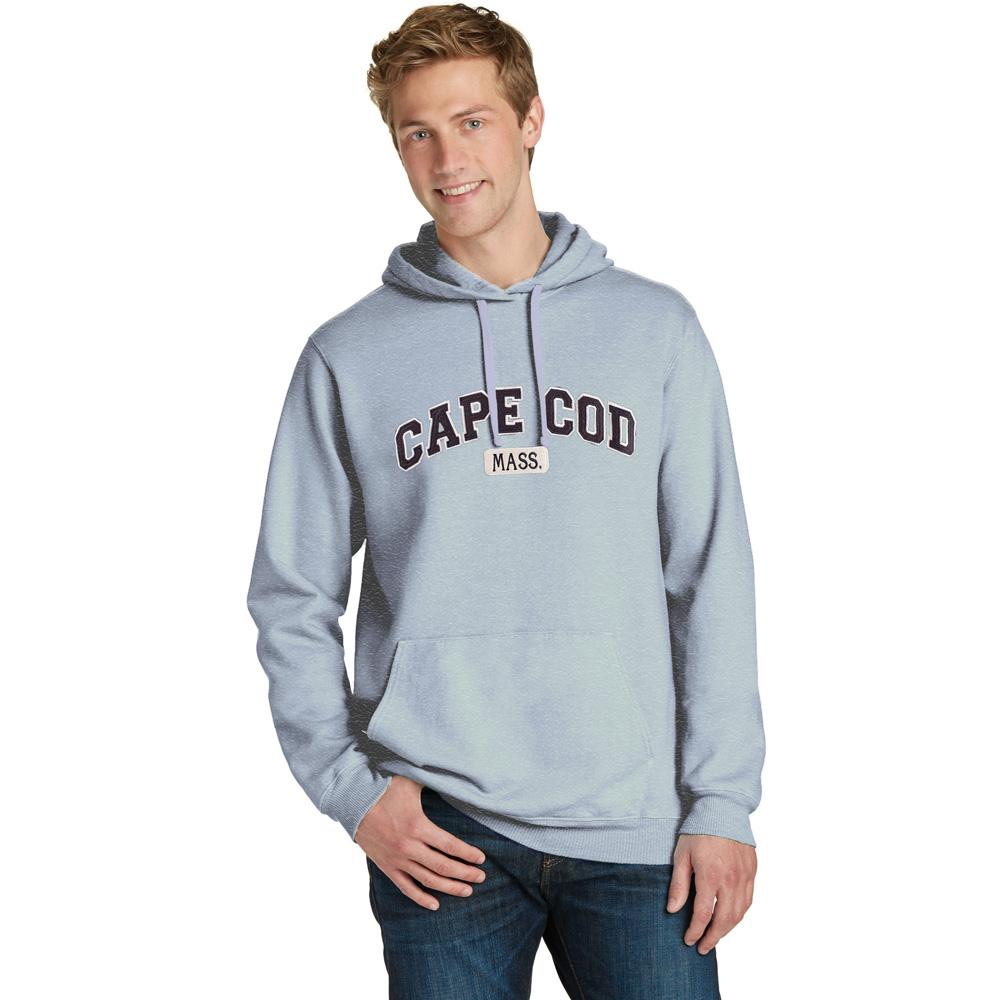 GR Men's Cape Cod Mass Fleece Pullover Hoodie Men's Pullover Hoodie SRK Heather Grey S