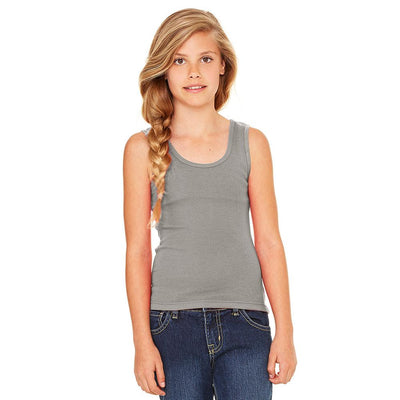 Ryazan Power Flex Girl's Tank Top Women's Tee Shirt MHJ Heather Grey 12-16 Years