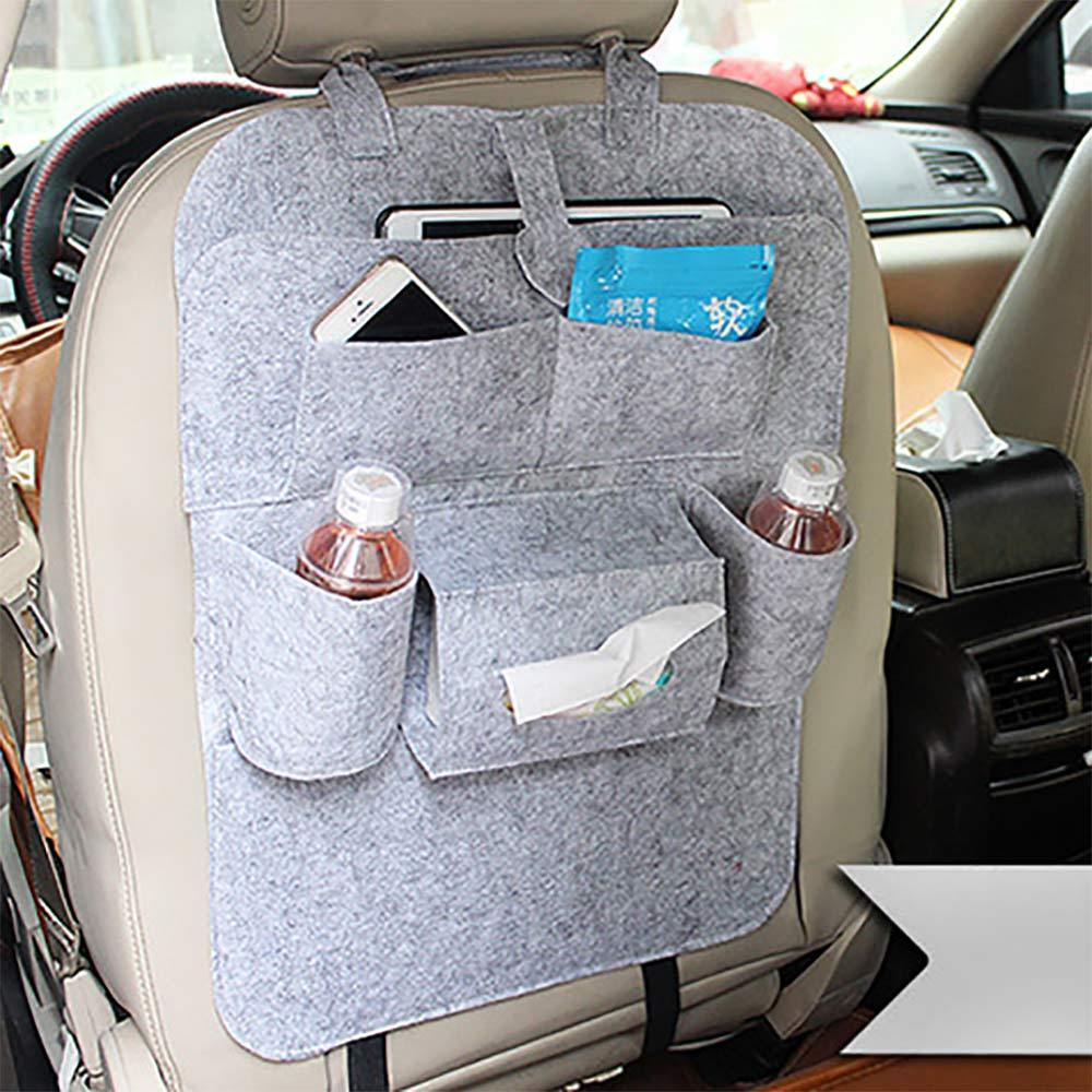 Multi-Pocket Car Seat Back Organiser General Accessories Sunshine China Heather Grey