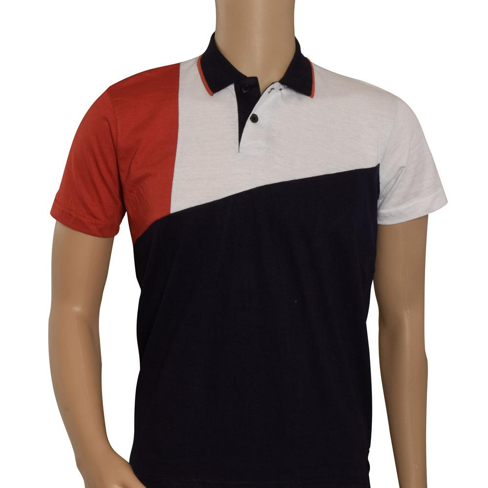 Poler men's Hakinson Customized Contrast Color Polo Shirt Men's Tee Shirt IBT Navy & Red S
