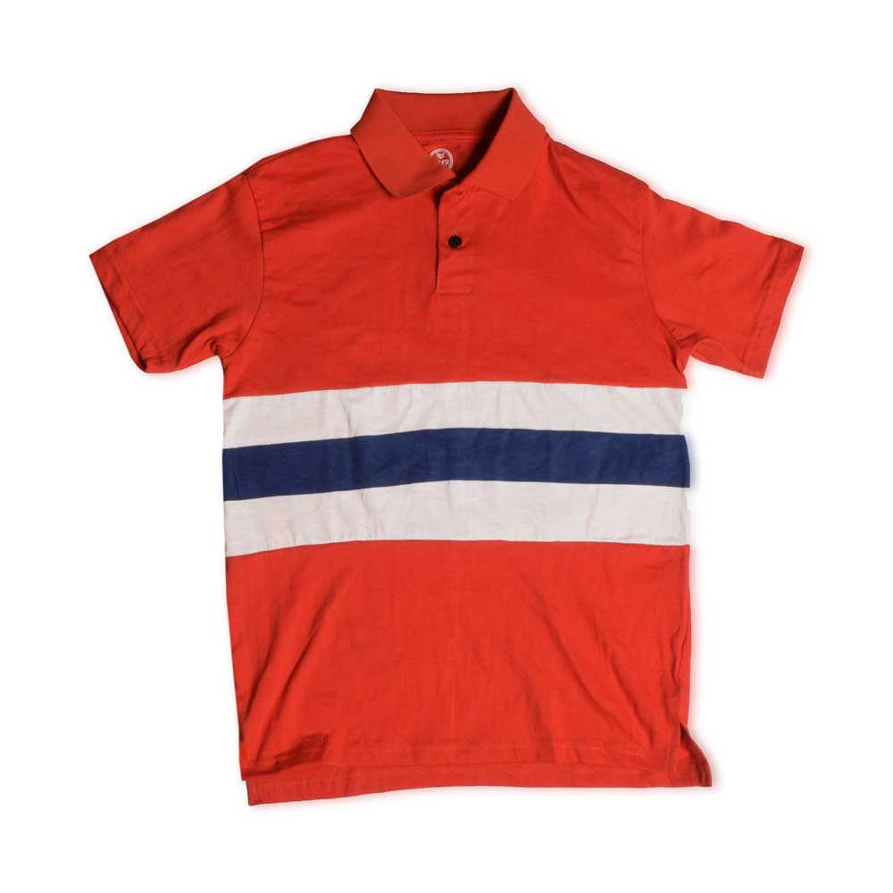 Poler Men's Denver Contrast Polo Shirt Men's Polo Shirt IBT Red & Blue S