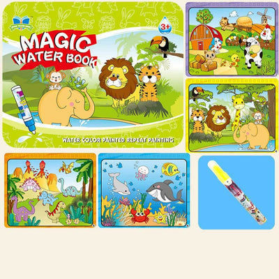 Kid's Magic Water Drawing Book Toy Sunshine China Jungle