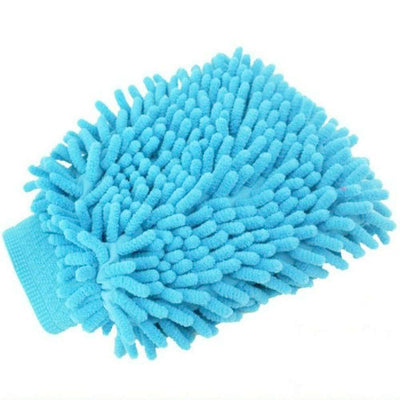 Chenille Cleaning Scrub Car Rag Glove General Accessories Sunshine China Sky Blue