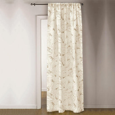 TMH Brentwood Printed One Piece Pocket Curtain Curtain MB Traders Light Mud W-50 x L-84 Inches