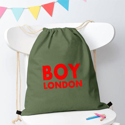 Polo Republica London Boy Drawstring Bag Drawstring Bag Polo Republica Light Olive Red