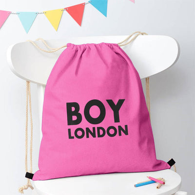 Polo Republica London Boy Drawstring Bag Drawstring Bag Polo Republica Light Pink Black