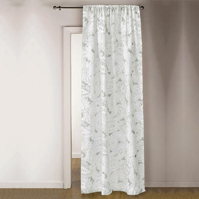 TMH Brentwood Printed One Piece Pocket Curtain Curtain MB Traders Light Sea Green W-50 x L-84 Inches