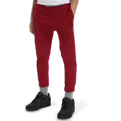 Polo Republica Kids Hoobsita Classic Sweat Pants Boy's Sweat Pants Polo Republica Maroon Heather Grey 2 Years