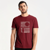 LE Night Deer Tee Shirt Men's Tee Shirt Image Burgundy S