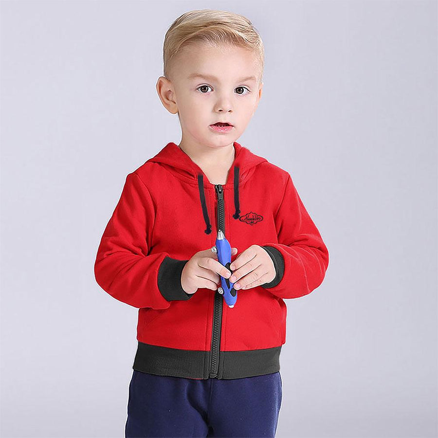 Edvak Boy's Aladin Fleece Zipper Hoodie