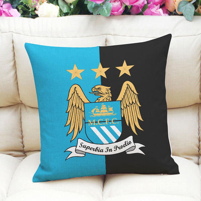 Football Club Composite Linen Cushion Cover Cushion Cover Sunshine China Manchester City