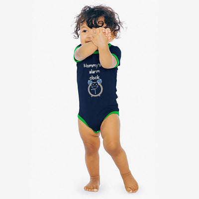 Polo Republica Mommy's Lil Alarm Baby Romper Babywear Polo Republica Navy Green 0-3 Months