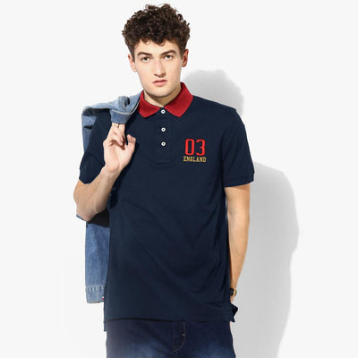 Polo Republica 03 England Short Sleeve Polo Shirt Men's Polo Shirt Polo Republica Navy Burgundy S