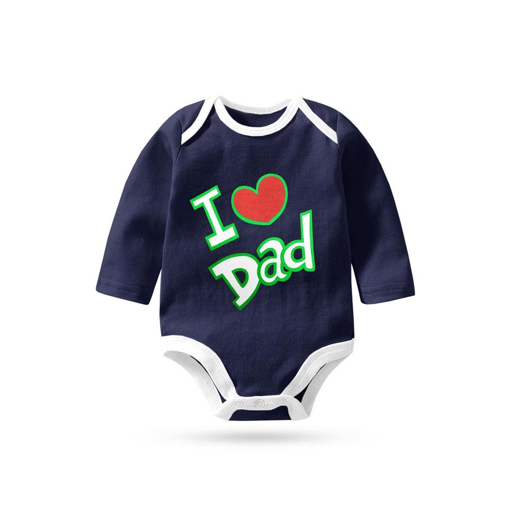 78c6ef92 Polo Republica Love Dad Pique Baby Romper