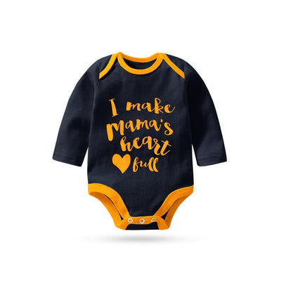 Polo Republica Mama's Heart Full Long Sleeve Baby Romper Babywear Polo Republica Navy Yellow 0-3 Months