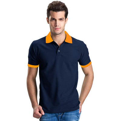 Polo Republica Abrud Polo Shirt Men's Polo Shirt Polo Republica Navy Orange S