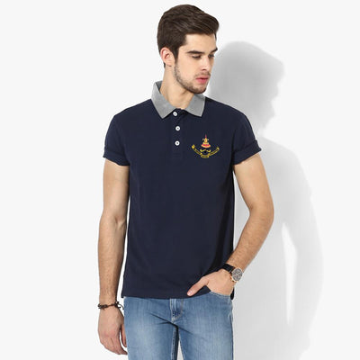 Polo Republica Selangor Polo Shirt Men's Polo Shirt Polo Republica Navy Silver Marl S