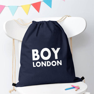 Polo Republica London Boy Drawstring Bag Drawstring Bag Polo Republica Navy White