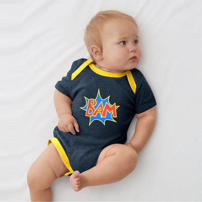 Polo Republica Bam Jersey Baby Romper Babywear Polo Republica Navy Yellow 0-3 Months