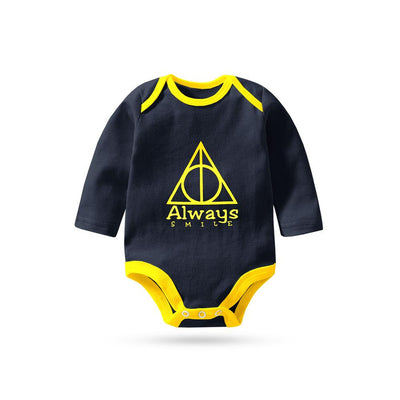 Polo Republica Always Smile Long Sleeve Pique Baby Romper Babywear Polo Republica Navy Yellow 0-3 Months