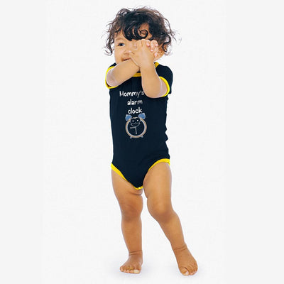 Polo Republica Mommy's Lil Alarm Baby Romper Babywear Polo Republica Dark Navy Yellow 0-3 Months