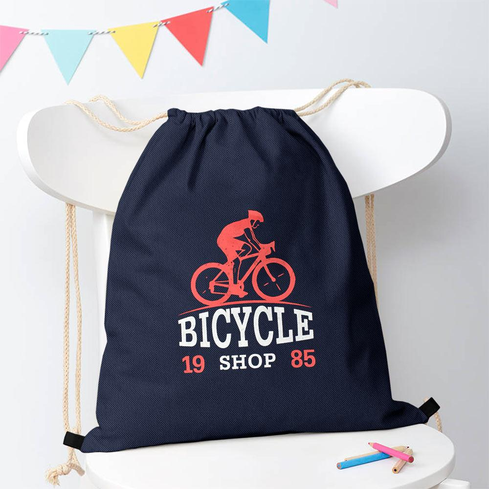Polo Republica Bicycle Shop 1985 Drawstring Bag Drawstring Bag Polo Republica Navy Brick Red