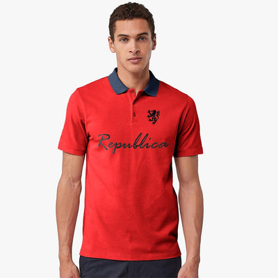Polo Republica Leo Asmara Polo Shirt Men's Polo Shirt Polo Republica Red Navy S