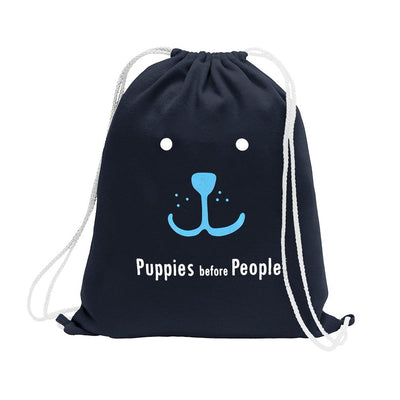 Polo Republica Puppies Before People Drawstring Bag Drawstring Bag Polo Republica Navy Sky