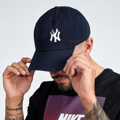 MB NY Signature Embro P Cap Headwear MB Traders Navy