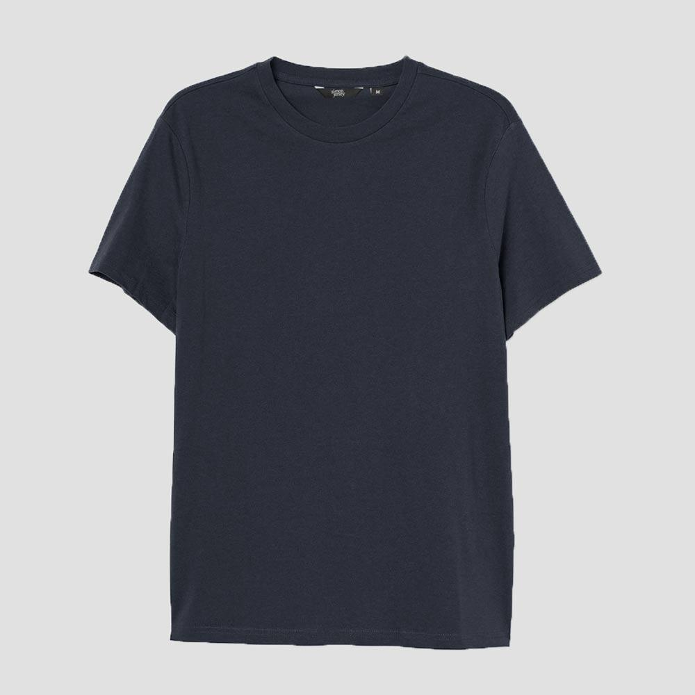 SJ Men's Lavish Crew Neck Tee Shirt Men's Tee Shirt Image Navy XS