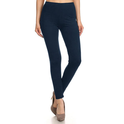 HUD Women's Buttery Soft Solid Leggings Women's Trousers MHJ Navy S