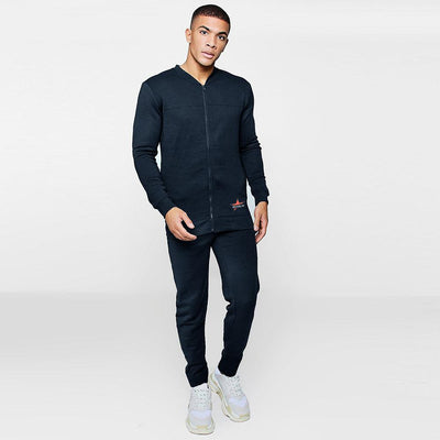 Brooklyn Antemnae Men's Fleece Track Suit Men's Sleep Wear IBT Navy S