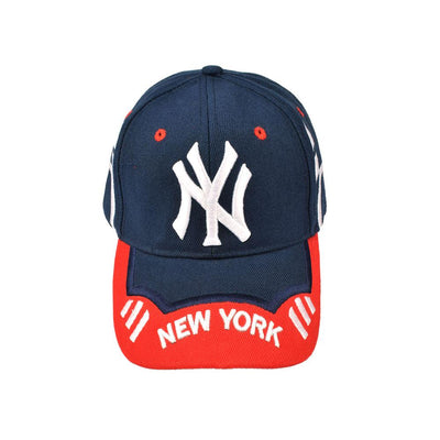 MB New York Signature Embro P Cap Headwear MB Traders Navy