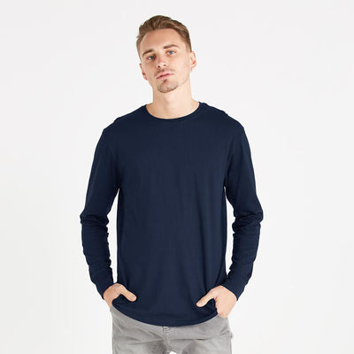 Polo Republica Thermal Lined Long Sleeves Tee Shirt Men's Tee Shirt Polo Republica Navy XS