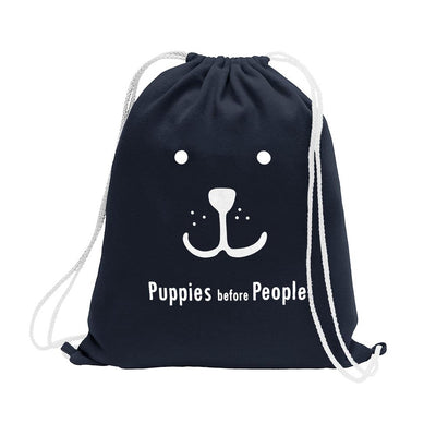 Polo Republica Puppies Before People Drawstring Bag Drawstring Bag Polo Republica Navy White