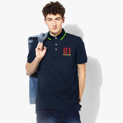 Polo Republica 03 England Short Sleeve Polo Shirt Men's Polo Shirt Polo Republica Navy Navy S