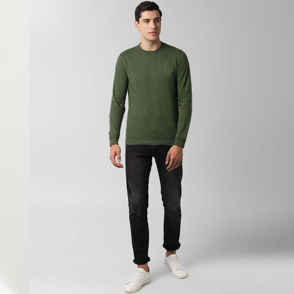 Identic Men's Branda Solid Color Sweat Shirt