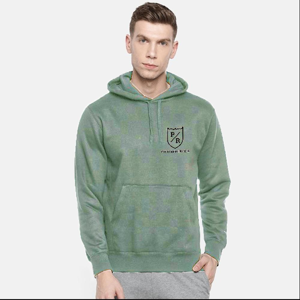 Polo Republica Men's Riverside Fleece Pullover Hoodie Men's Pullover Hoodie ASE Light Olive S