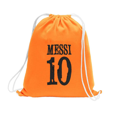 Polo Republica Messi Lovers Drawstring Bag Drawstring Bag Polo Republica Orange Black
