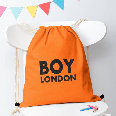 Polo Republica London Boy Drawstring Bag Drawstring Bag Polo Republica Orange Black